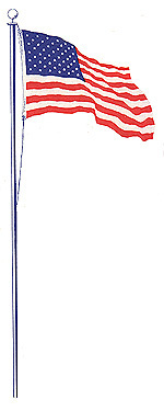 US Flag tall